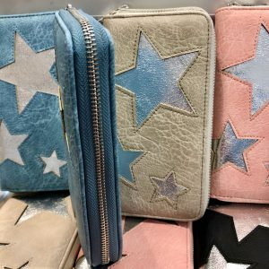 Geldbboerse Stern bei und blau
