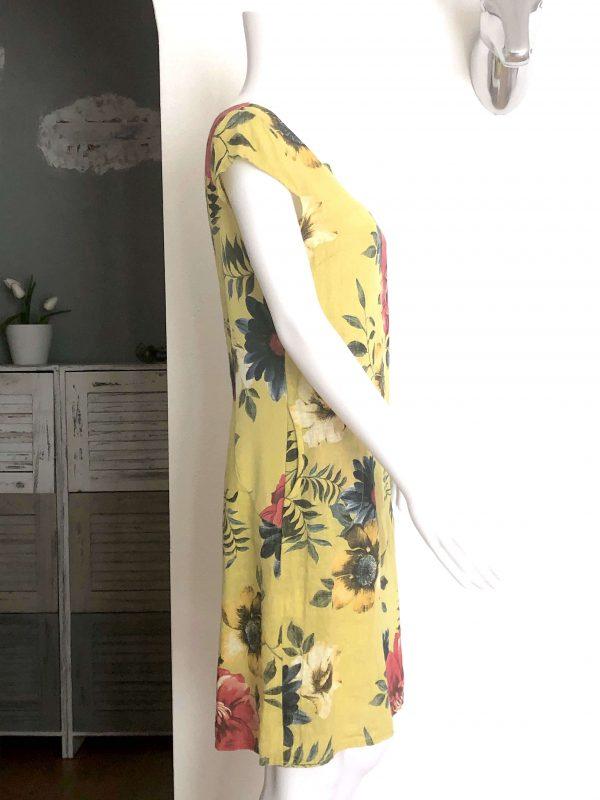 Leinenkleid gelb seitlich