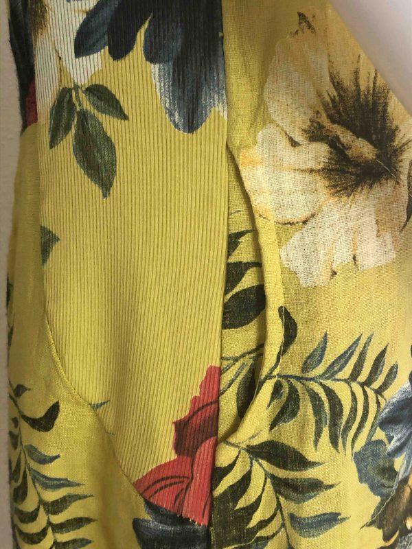 Leinenkleid gelb Details