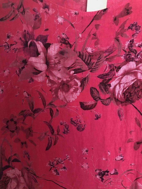 Leinenkleid rose pink Detail