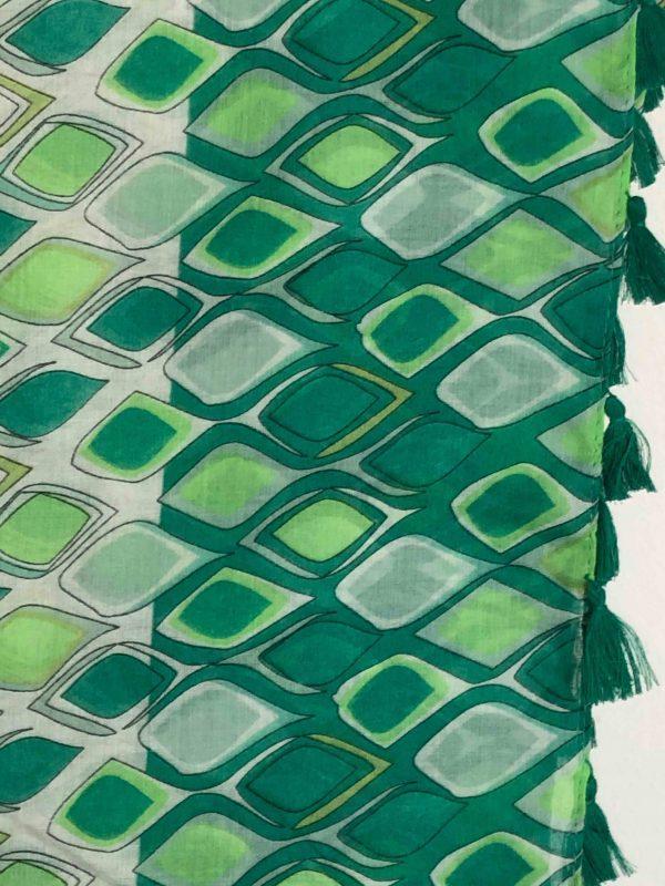 Schal Rauten grün
