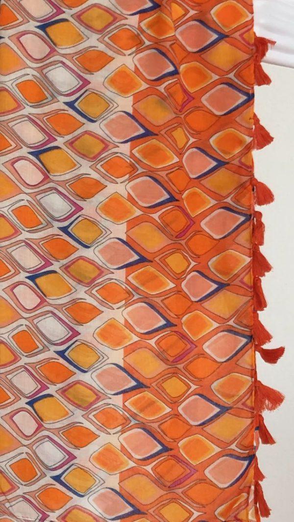 Schal Rauten orange