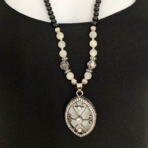 Halskette Ornament oval