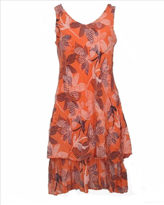 Sommerkleid Stufen orange
