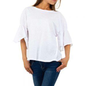 weißes Baumwollshirt