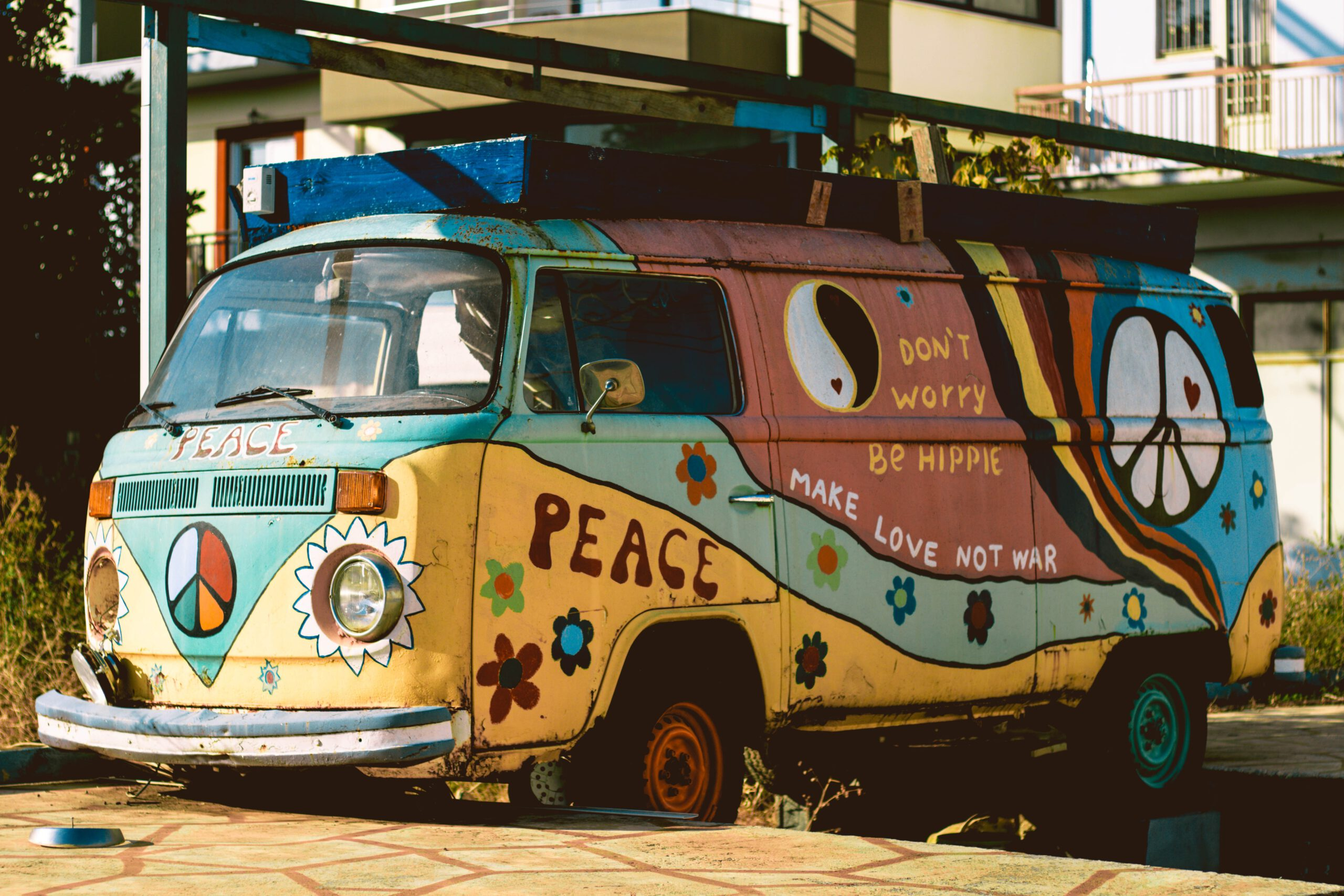 VW-Bus Hippiestyle